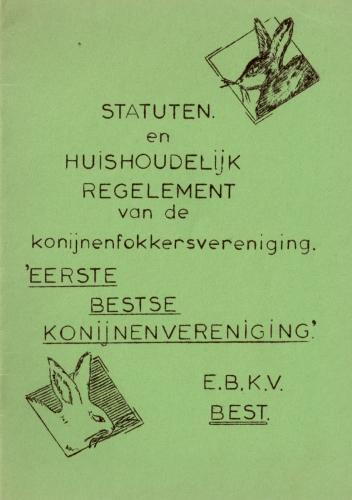 eerste statuten en huishoudelijk regelement